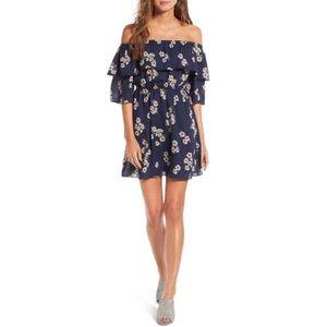 Cupcakes & Cashmere Floral Off The Shoulder Dress